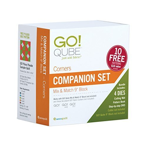 "AccuQuilt GO! Qube 9"" Companion Set-Corners"