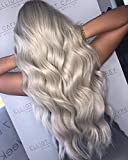 Sunny 7A Salon Quality Hair Extensions Human Hair Weft Bundles,Ombre Black to Grey Human Hair Weft Extensions Sew In Hair Steaight 18inch 100g/pack