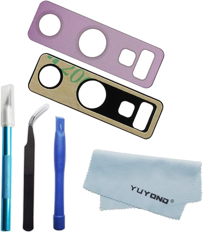 YUYOND OEM Original Purple Back Rear Camera Glass Lens Replacement for Samsung Galaxy Note 9 (All Carriers) with Adhesive Pre-Installed + Repair Tools + Clean Cloth