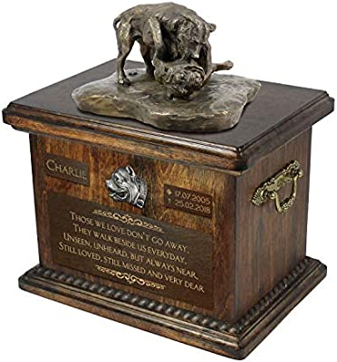 Amazoncom Pit Bull Fight Urn For Dog Ashes Memorial With Statue