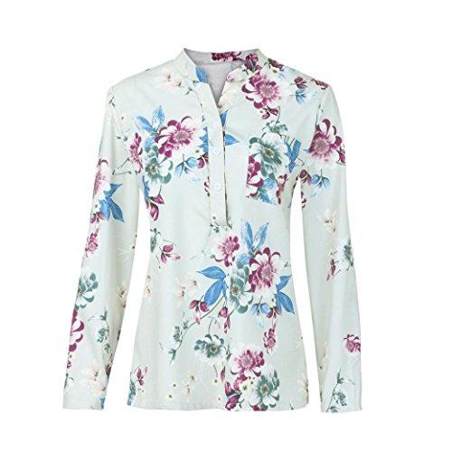 Loose Imprim Cebbay V Personnalit Hiver Confortable Chic Shirt Nouveau Blouse Taille Manches Longues Pull Rose Super Plus Floral Automne Mode Neck Femmes Premium Longues Tops rI8qrzwZ