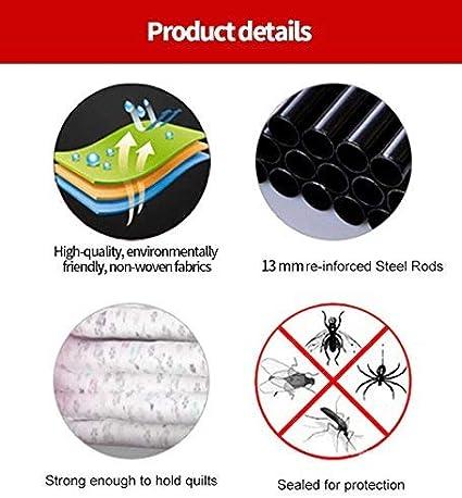 UDEAR Armario de Ropa de Tela y Tubo Metal para Ropa Organizador Ropero Plegable Colgar Marr/ón