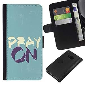 KLONGSHOP // Tirón de la caja Cartera de cuero con ranuras para tarjetas - BIBLIA Ore En - HTC One M7 //