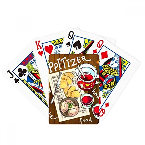 beatChong Appetizer Lemonade Steak France Poker Playing Card Tabletop Board Game Gift by beatChong