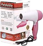 TECHICON Olfa NV-1290 Plastic Professional 1000 Watts Foldable Hair Dryer for Women (Multicolour)