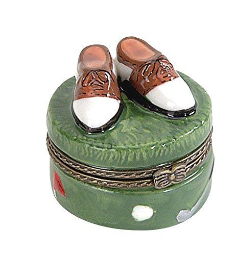 Navika PGA Golf Shoes Limoge Porcelain Box, Green, 2-3