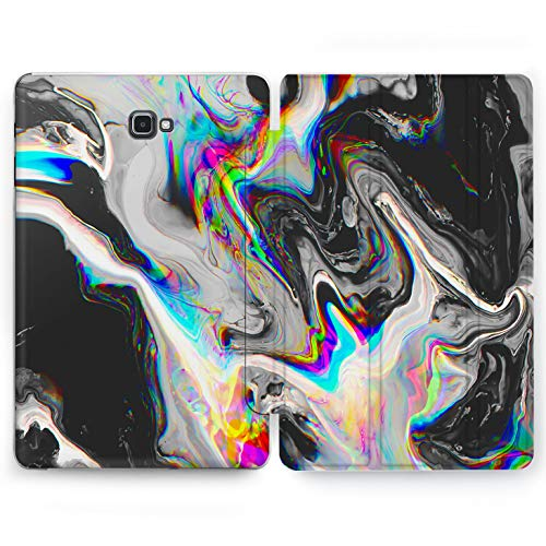 Wonder Wild Rainbow Marble Samsung Galaxy Tab S4 S2 S3 A E Smart Stand Case 2015 2016 2017 2018 Tablet Cover 8 9.6 9.7 10 10.1 10.5 Inch Clear Design Bright Blue Golden Plastic Marble Paleontology]()