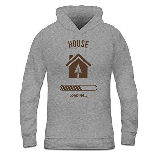 Sudadera con capucha de mujer House Loading by Shirtcity Gris granulado