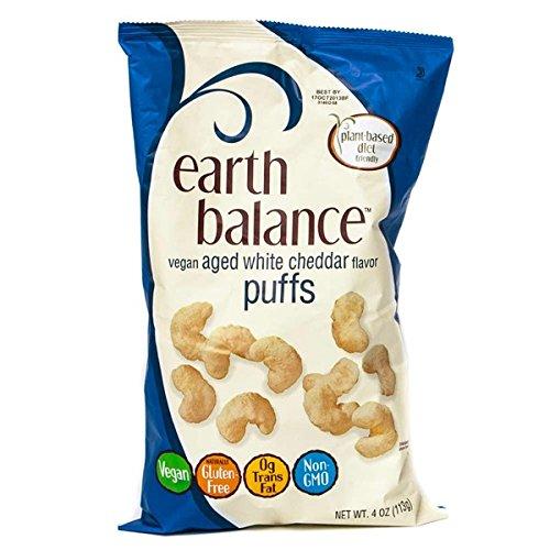 Earth Balance Vegan Aged White Cheddar Puffs 4 oz (2 -
