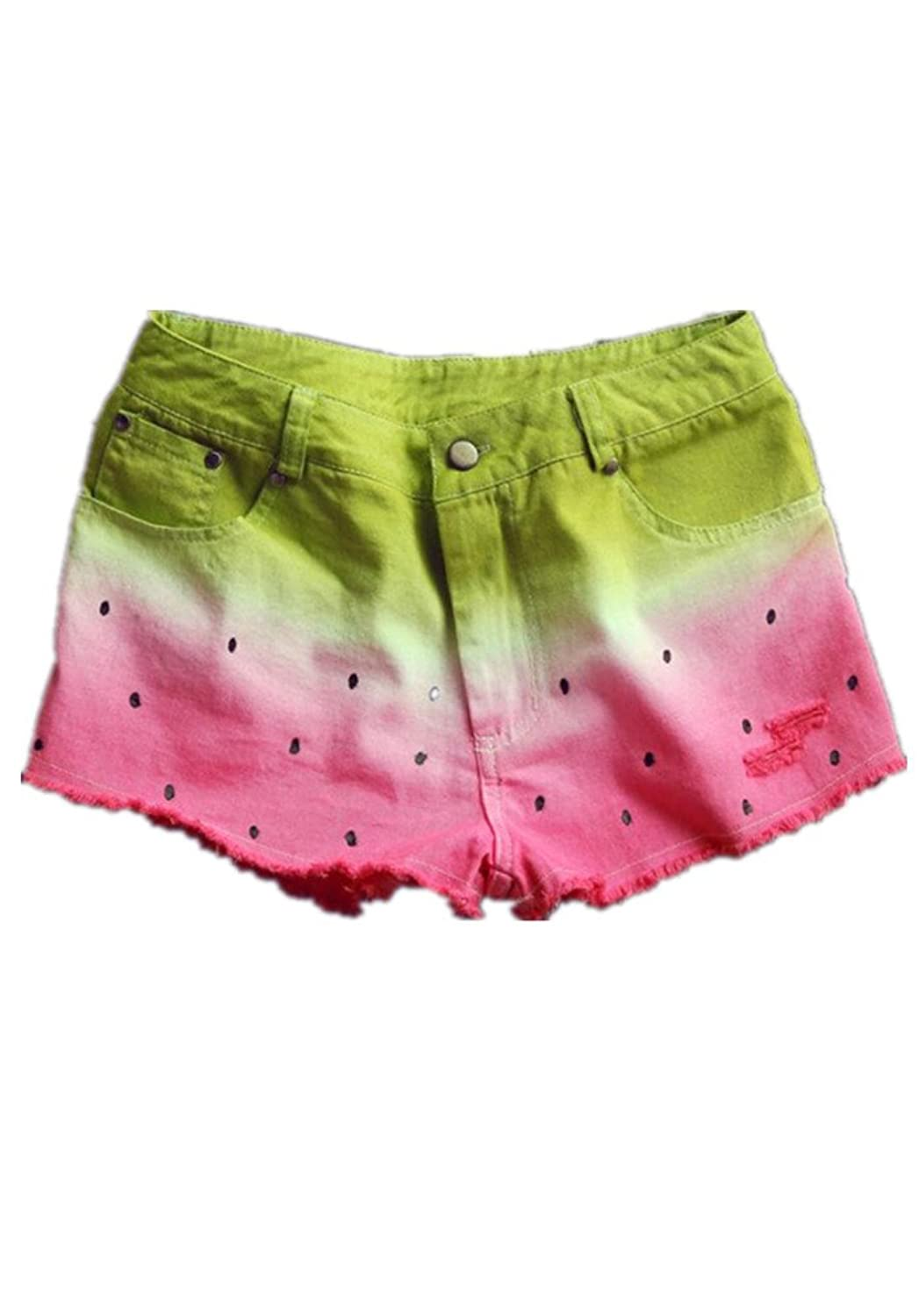 Lingswallow Women Summer Casual Low Waist Stretchy Short Shorts Hot Pants Pink