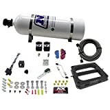 Nitrous Express 50070-15 100-500 HP Dominator Gasoline Conventional Pro Power Plate System with 15 lbs. Bottle