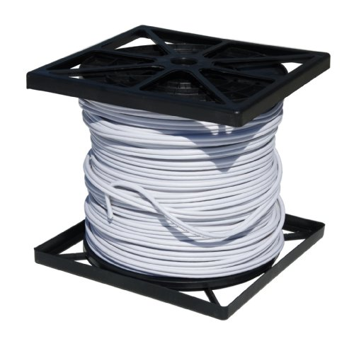 Cop Security 95S-500W RG59 Siamese Cable with 18/2 Power and 24/2 DATA, 500-Feet (White) by COP Security
