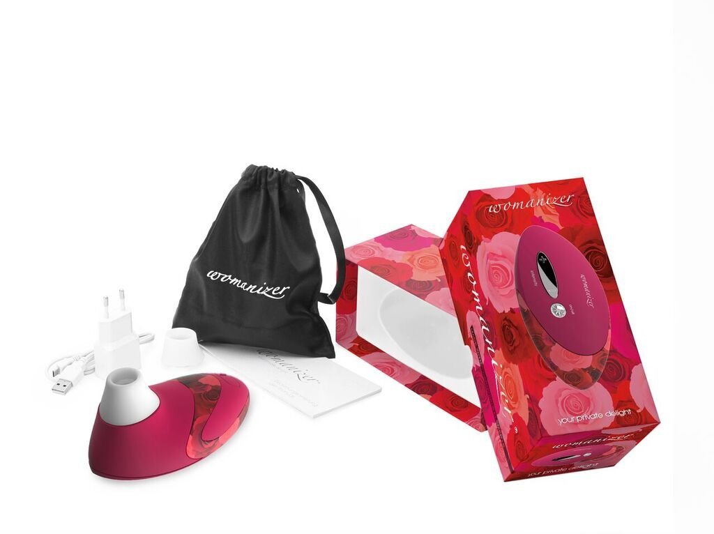 Womanizer Deluxe W500 PleasureAir Vibrator Sex Toy - Red Roses by Womanizer