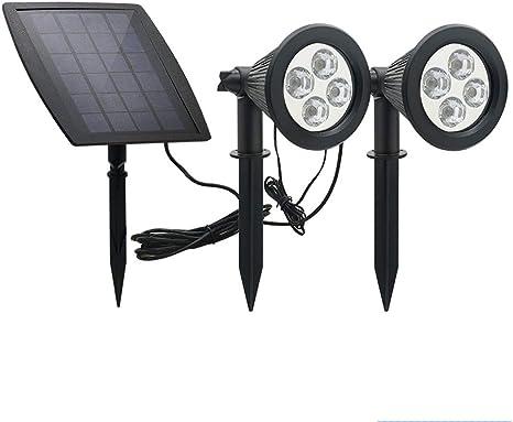 YMJJ Luz Solar Doble Solar al Aire Libre Luz Solar LED Luz Solar Luz Impermeable Jardín al Aire Libre Luz del Paisaje Terraza Patio Césped: Amazon.es: Deportes y aire libre