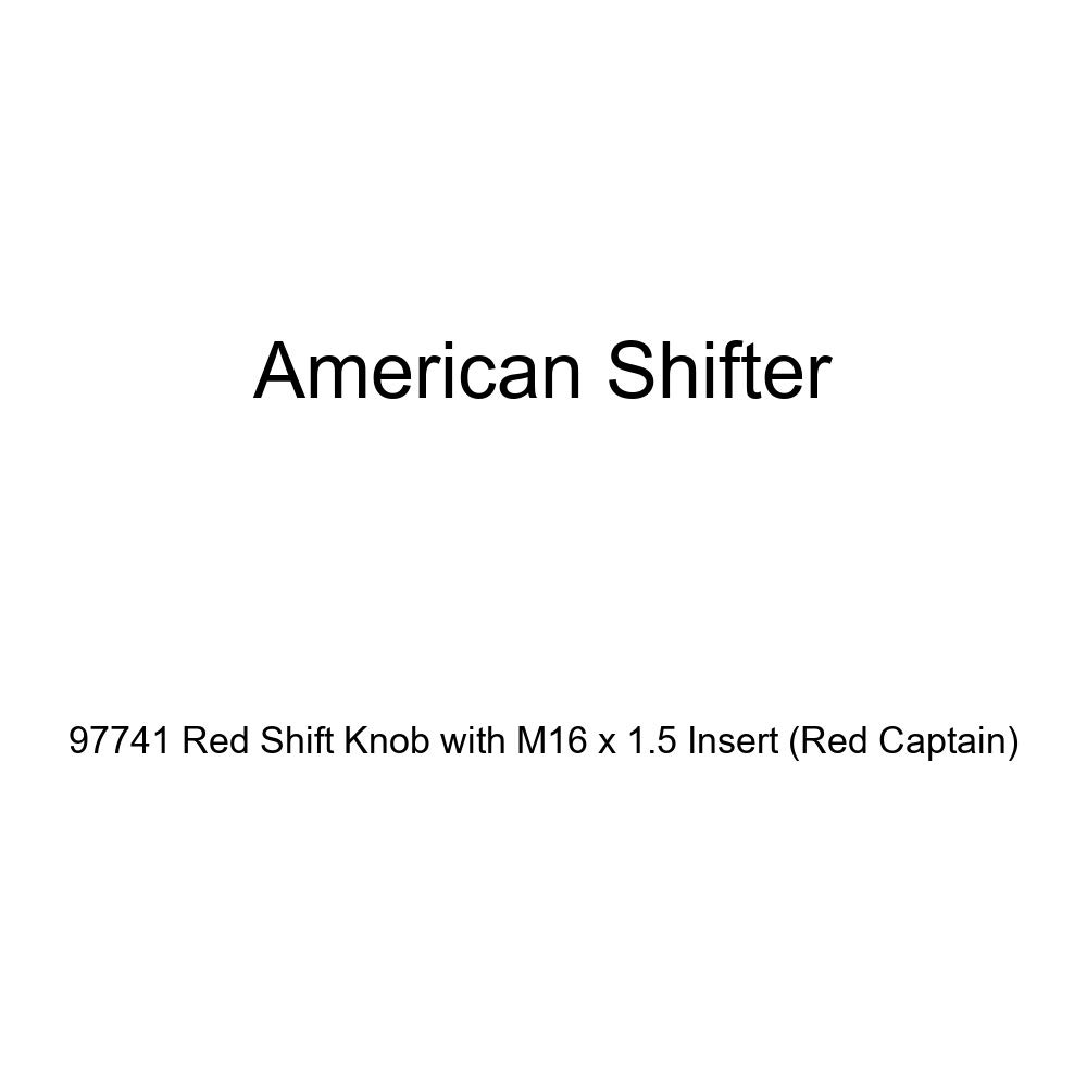 Red Captain American Shifter 97741 Red Shift Knob with M16 x 1.5 Insert