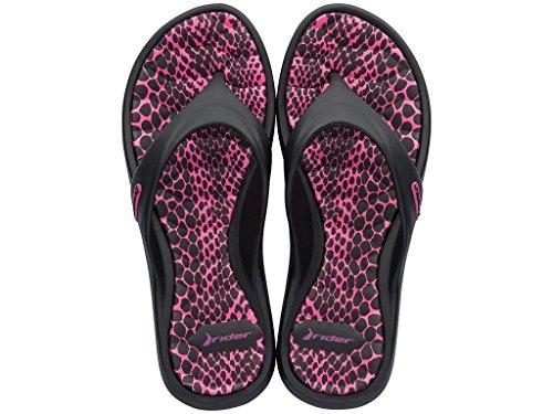pink Femme pour One Size Noir Rider Tongs 20805 schwarz Noir fSqExq68w