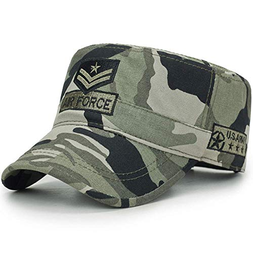 AKIZON Air Force Army Cap Baseball Hats for Men Cadet Patrol Caps Dad Hat Casual, Camouflage, 7 3/8