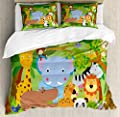 bedsure Duvet Cover setFunny Wildlife Mammals Duvet Cover SetSuper Soft Bedding Set and Easy Care