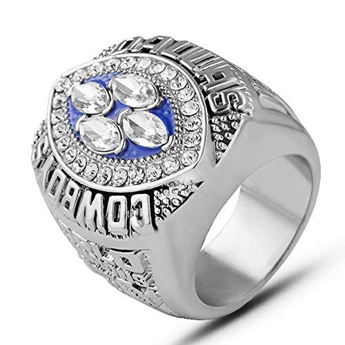 AJZYX NFL 1994 Super Bowl Replica Championship Ring Dallas Cowboys Gift Ring Collectible Souvenir Silver Size - Bag Cowboys Dallas Sleeping