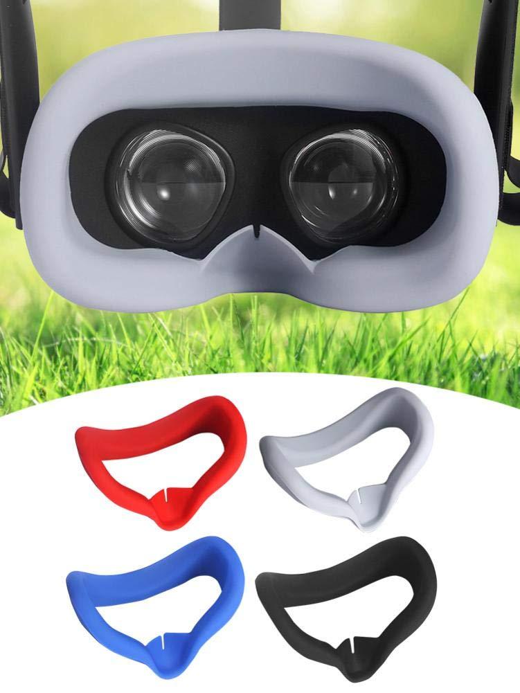 r/ésistant /à la Fashionable pr/évenez Les infections des Yeux Cherishly Masque de VR Silicone Rr/éutilisable Couvre-Masque Lavable pour Les Yeux prot/ège-Yeux pour Oculus Quest VR Gamest Headest
