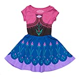 Disney Frozen I Am Elsa Anna Girls Skater Dress (Large, Anna)