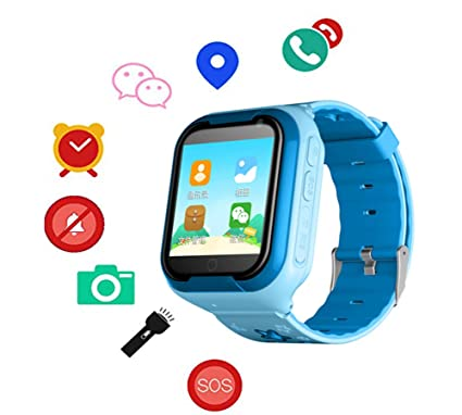 21acaad84976 Amazon.com  F-TALK New 4G Kids Smart Watch Phone with Video Calling ...