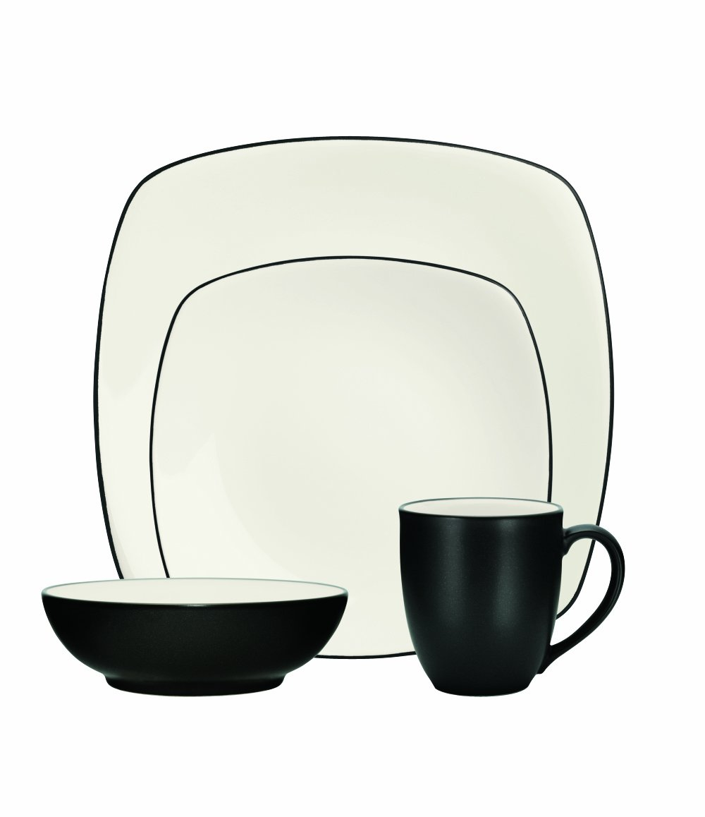 Amazon.com | Noritake 4-Piece Colorwave Square Place Setting, Green ...