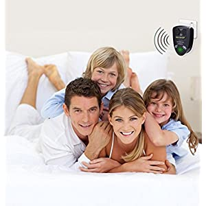 Ultrasonic Pest Repellent [ Upgraded ] - Highly Effective Plug-In Electronic Insect Repeller , Indoor Pest Control for Mice, Bugs, Mosquito, Rats , Uses Sonic Sound ,Set of 3 + FREE Mosquito Bracelet