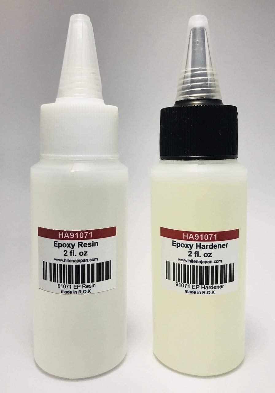 Hitena Rod Finish Epoxy Resin & Hardener (4 oz) - Non-Cracking Formula, Even First Time Builder Can Get A Decent Result Like Professional Builder Due to Incredible Self-Levelling
