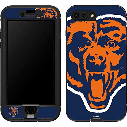 Skinit Chicago Bears Retro Logo LifeProof Nuud iPhone 7 Plus Skin for CASE - Officially Licensed NFL Skin for Popular Cases Decal - Ultra Thin, Lightweight Vinyl Decal Protection