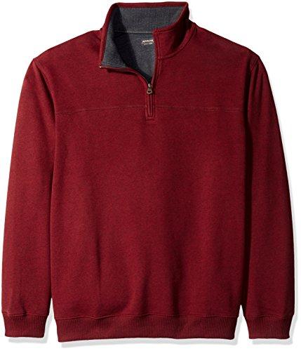 Tall Zipper (Arrow Men's Big-Tall Long Sleeve Sueded Fleece 1/4 Zip, Chocolate Truffle Heather, 3X-Large)