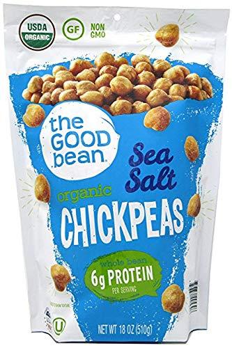 The Good Bean Sea Salt Flavor Crispy Crunchy Chickpeas, 18 ounce (2 Pack) by The Good Bean
