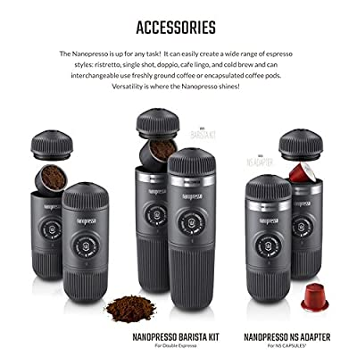 Wacaco Nanopresso Upgrade For Minipresso Portable Manual Espresso Coffee Maker Protective Case Included 18 bars (261 PSI) Maximum Pressure Travel Bottle by Wacaco Ltd Co