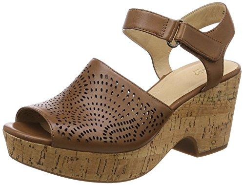 Maritsa NILA Tan Leather Wedge Sandal
