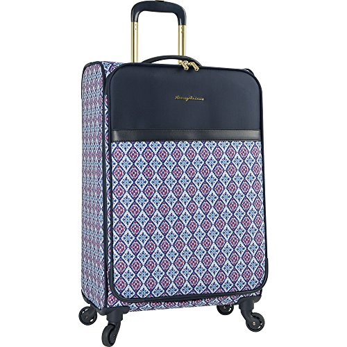 Tommy Bahama Lightweight Spinner Luggage - Expandable Suitcases for Men and Travel with Rolling Wheels, Pink/Blue (Bag Tommy Bahama Duffle)