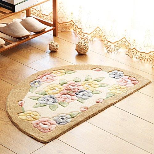 Chi Cheng Fang Electronic business Rugs Carpets Rug Carpet Rug Carpet mat pad Semicircle rose soft bedroom living room computer chair bedside European 40cm,50cm,60cm (Color : G, Size : 4067cm)