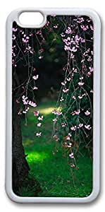 iPhone 6 Cases, Personalized Protective Case for New iPhone 6 Soft TPU White Edge Flower Tree02