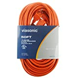 : Viasonic Outdoor Extension Cord UL listed - 50FT - Heavy Duty & Durable, General Purpose, 16 Gauge, Orange Cord, by Unity