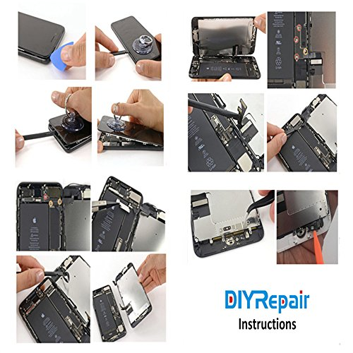 Premium Screen Replacement For iPhone 8 Plus (5.5 inch) - 3D Touch LCD Complete Repair Kits -LCD Touch Digitizer Display Glass Replacement With Tempered Glass, Tools, Instruction (White) by DIYRepair (Image #5)