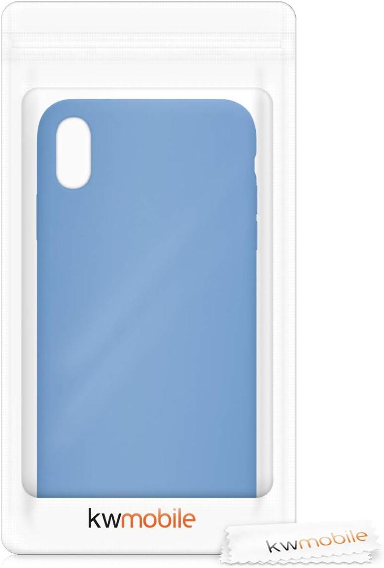 Cover Trasero en Beige Carcasa de TPU para m/óvil kwmobile Funda Compatible con Apple iPhone XS MAX