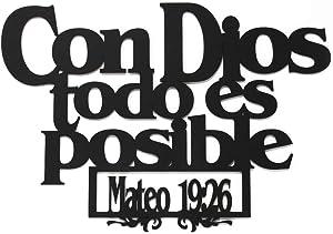 MEMORY MATS & WORD ART Spanish Wall Decor (Con Dios Todo ES Posible)