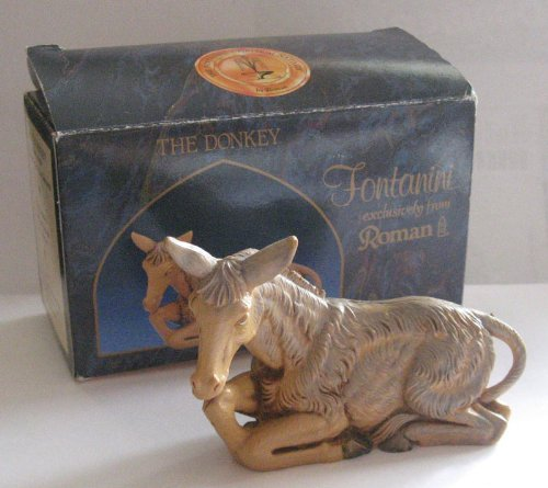 - Seated Donkey 5in The Fontanini Heirloom Nativity Collection #52533
