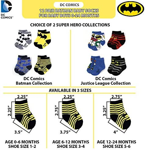 DC Shoes Boys 6 Pairs socks black Green yellow red as picture