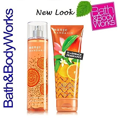 Fragrance Mandarin Mango - Bath & Body Works Mango Mandarin Body Cream & Fragrance Mist Gift Set
