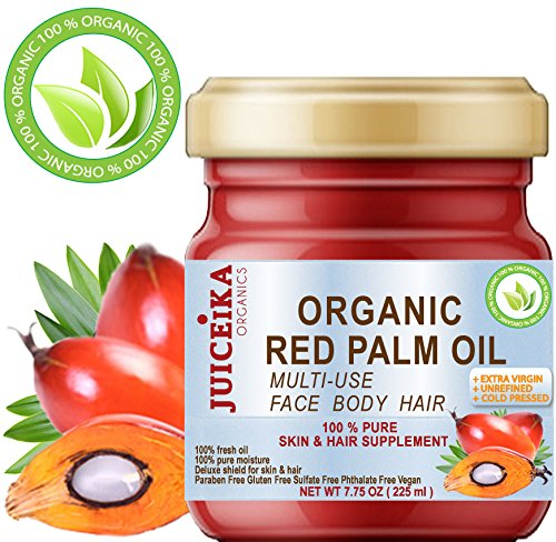 100 % PURE ORGANIC RED PALM OIL Brazilian. EXTRA VIRGIN / UNREFINED / RAW COLD PRESSED. 100% Pure Moisture . Skin & Hair Supplement.