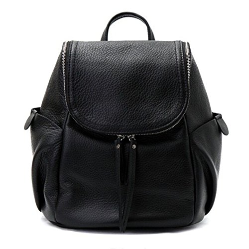 VF P906 Leather Backpack Black by Violett-Backpacks