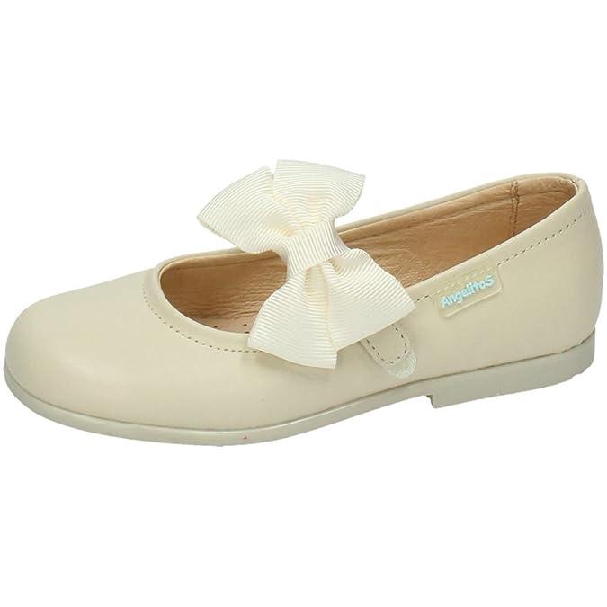 31ad3cee8 ANGELITOS 519 MECEDITA DE Piel NIÑA Merceditas  Amazon.es  Zapatos y  complementos