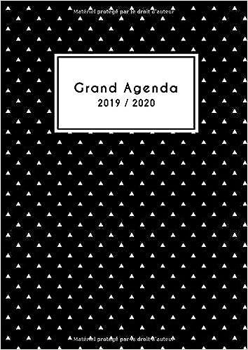 Grand Agenda 2019 2020: Agenda 2019 2020 noir | Format A4 ...