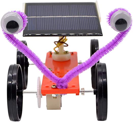 2pcs DIY Solar Power Car Toy Science Physics Electrical Education Discovery