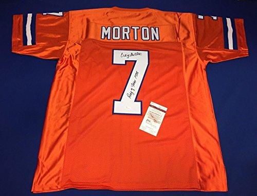 Craig Morton Signed Denver Broncos Jersey